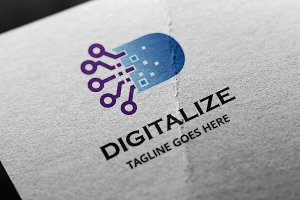Digitalize -Letter D Logo