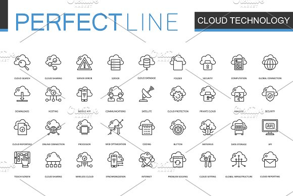 180 Perfect Line icons. in Graphics - product preview 2