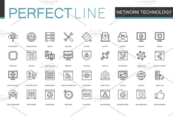 180 Perfect Line icons. in Graphics - product preview 4
