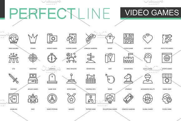 180 Perfect Line icons. in Graphics - product preview 5