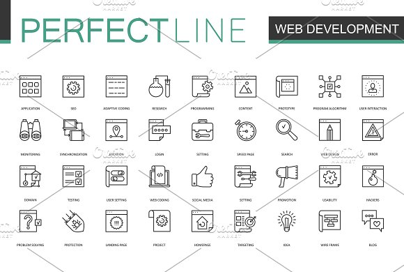 180 Perfect Line icons. in Graphics - product preview 6