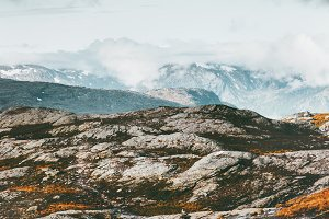 Mountains Landscape in Norway Travel