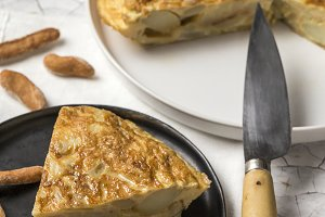 Spanish typical potato omelet