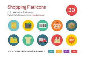 Shopping Flat Icons Set