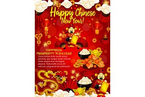 Chinese New Year poster for asian culture holidays