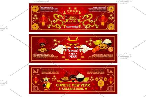 Chinese New Year vector China holiday greeting