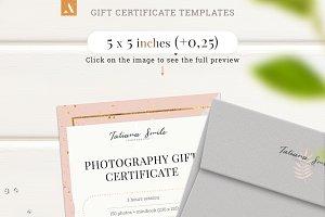 Photography Gift Сertificate