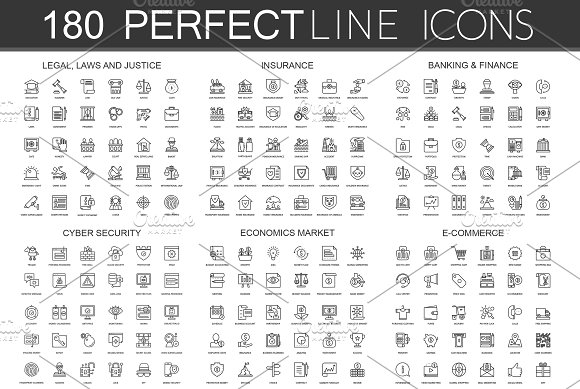 180 Perfect Line Icons