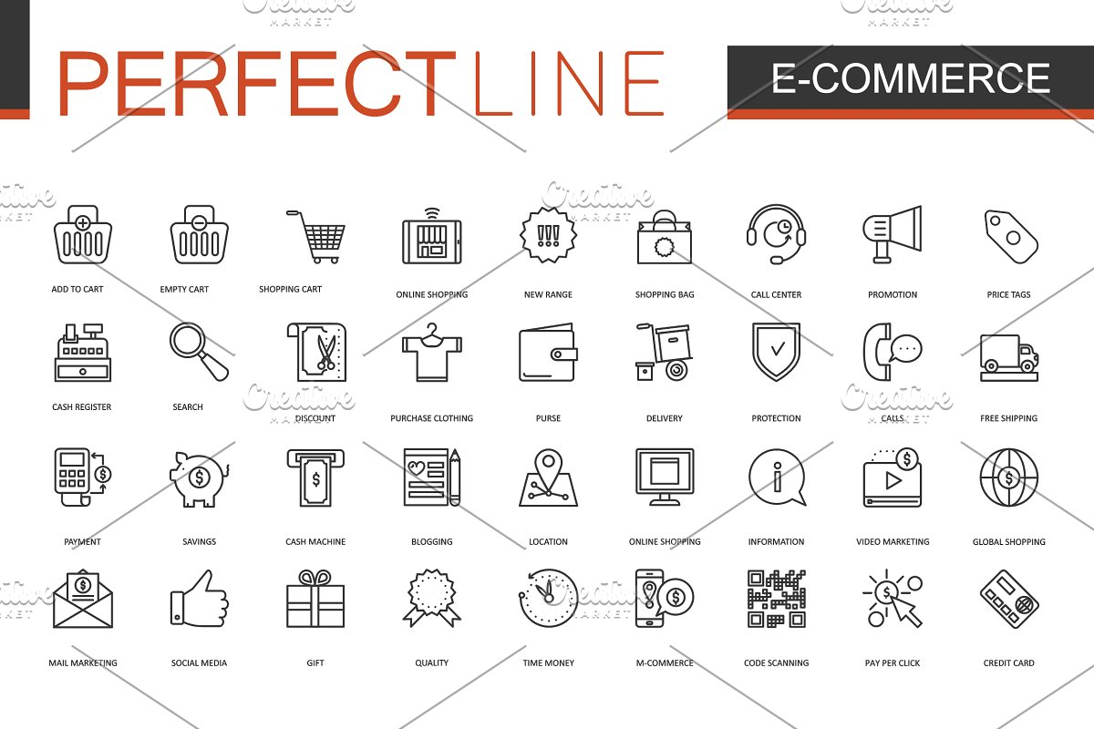 180 Perfect Line icons. in Safety Icons - product preview 1