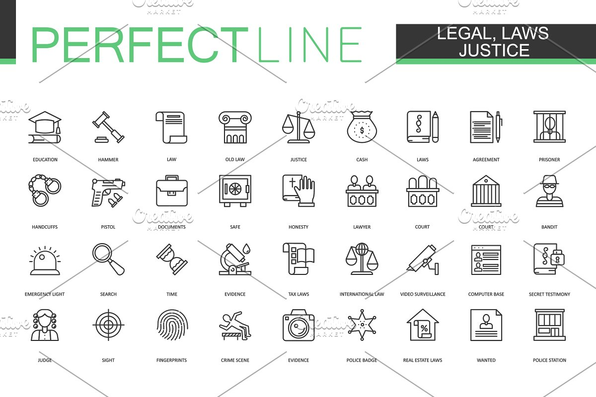 180 Perfect Line icons. in Safety Icons - product preview 6