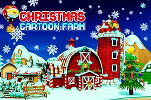 Cartoon Christmas Farm