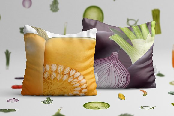 Huge hand drawn vegetables in Illustrations - product preview 4