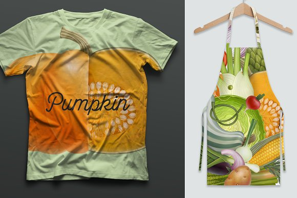 Huge hand drawn vegetables in Illustrations - product preview 7