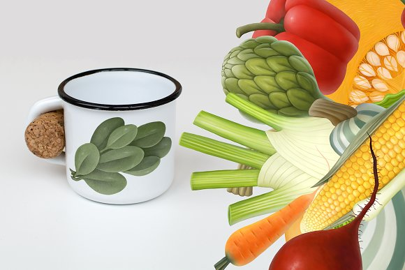 Huge hand drawn vegetables in Illustrations - product preview 10