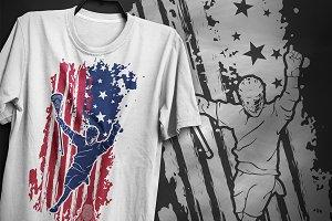 American lacrosse - T-Shirt Design