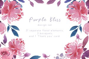 Purple Bliss Design Set