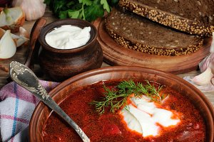 Borsch - soup with beet
