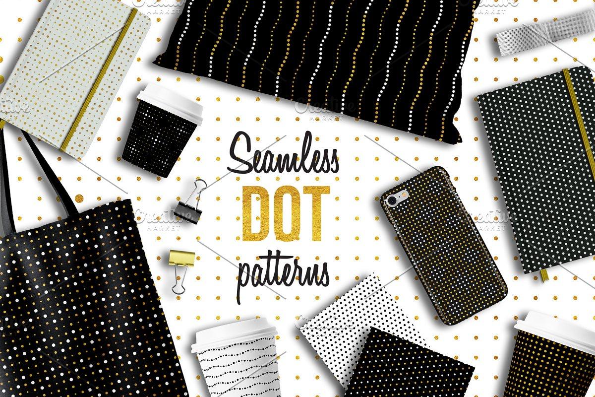 100 Seamless dot patterns