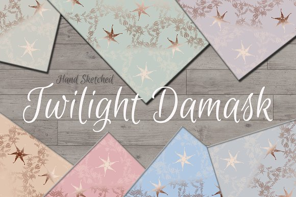 Twilight Damask Background Papers