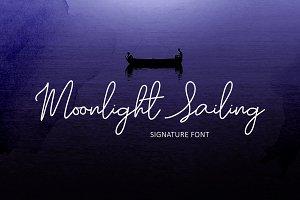 Moonlight Sailing Script Font