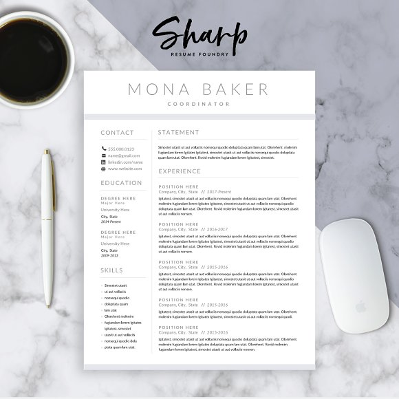 modern resume template for word resumes - Modern Resume Templates
