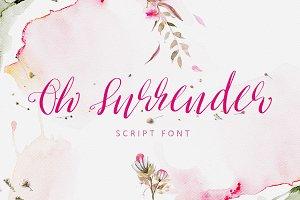 Oh Surrender Script Font