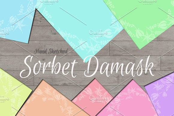 Sorbet Damask Background Papers