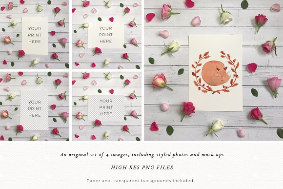 Rustic Mock Up | Styled Flatlay in Print Mockups
