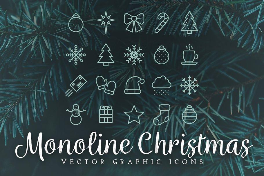 Monoline Christmas Icons
