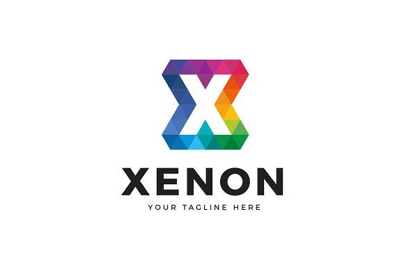 Xenon Letter X Logo