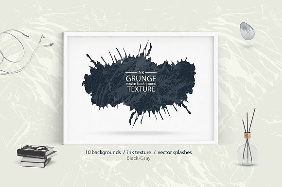 Ink grunge backgrounds