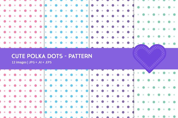 Cute Polka Dots in Graphics - product preview 1