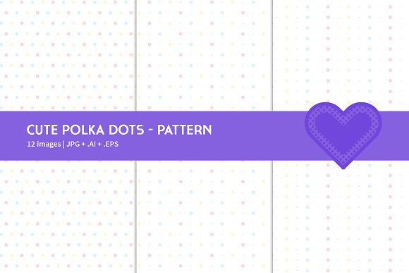 Cute Polka Dots in Graphics - product preview 2