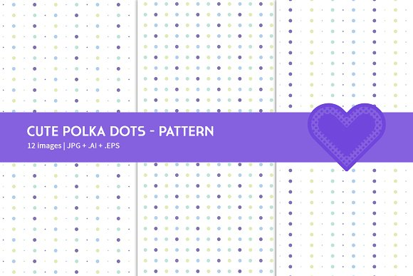 Cute Polka Dots in Graphics - product preview 4