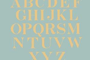 Roman fonts of alphabets (PSD)