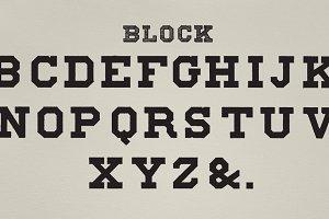 Block fonts of alphabets (PSD)
