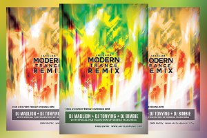 Modern Trance Remix Flyer