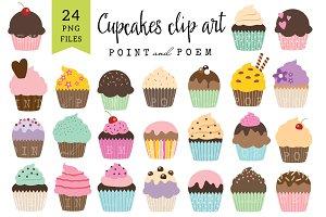 50% Off Cupcakes Clip Art