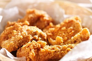 crispy fried chicken in basket