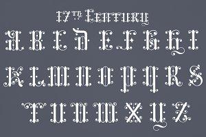 Fonts of alphabets (PSD)
