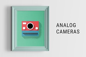 Analog Cameras Illustration