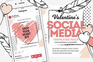 Valentines Social Media Templates V2