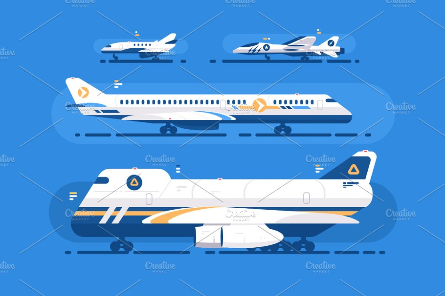 Aircraft types set