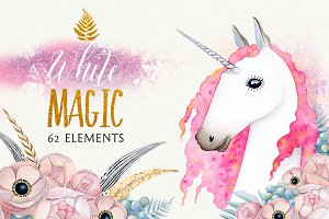 WHITE MAGIC watercolor set