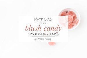 Blush Candy Stock Photo Bundle