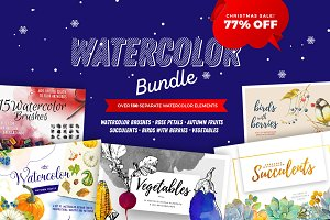 SMPL.MRKT Watercolor Bundle -77% OFF