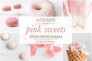 Pink Sweets Stock Photo Bundle