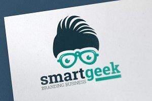 Smart Geek Fashion Logo Template