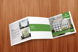 Square Tri Fold Interior Brochure