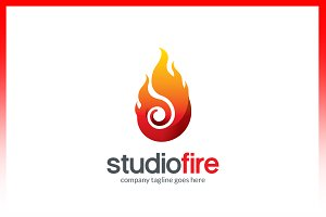 Flame Fire Logo Template